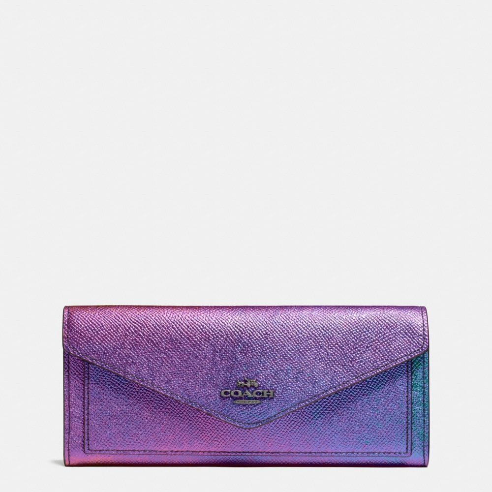 Soft Wallet in Hologram Leather