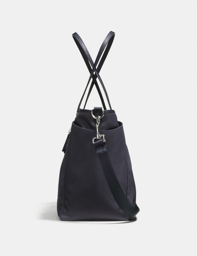 Coach Baby Tote Navy/Silver Women Handbags Totes & Carryalls Alternate View 1