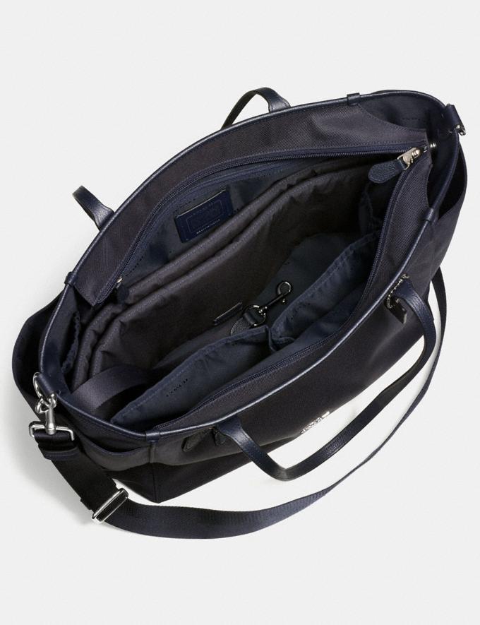 Coach Baby Tote Navy/Silver Women Handbags Totes & Carryalls Alternate View 2