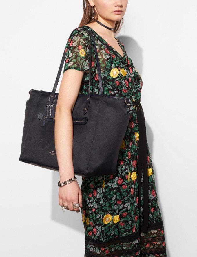 Coach Baby Tote Navy/Silver Women Handbags Totes & Carryalls Alternate View 3