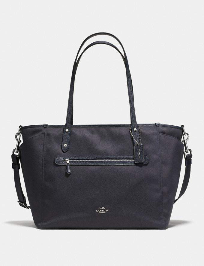 Coach Baby Tote Navy/Silver Women Bags Totes