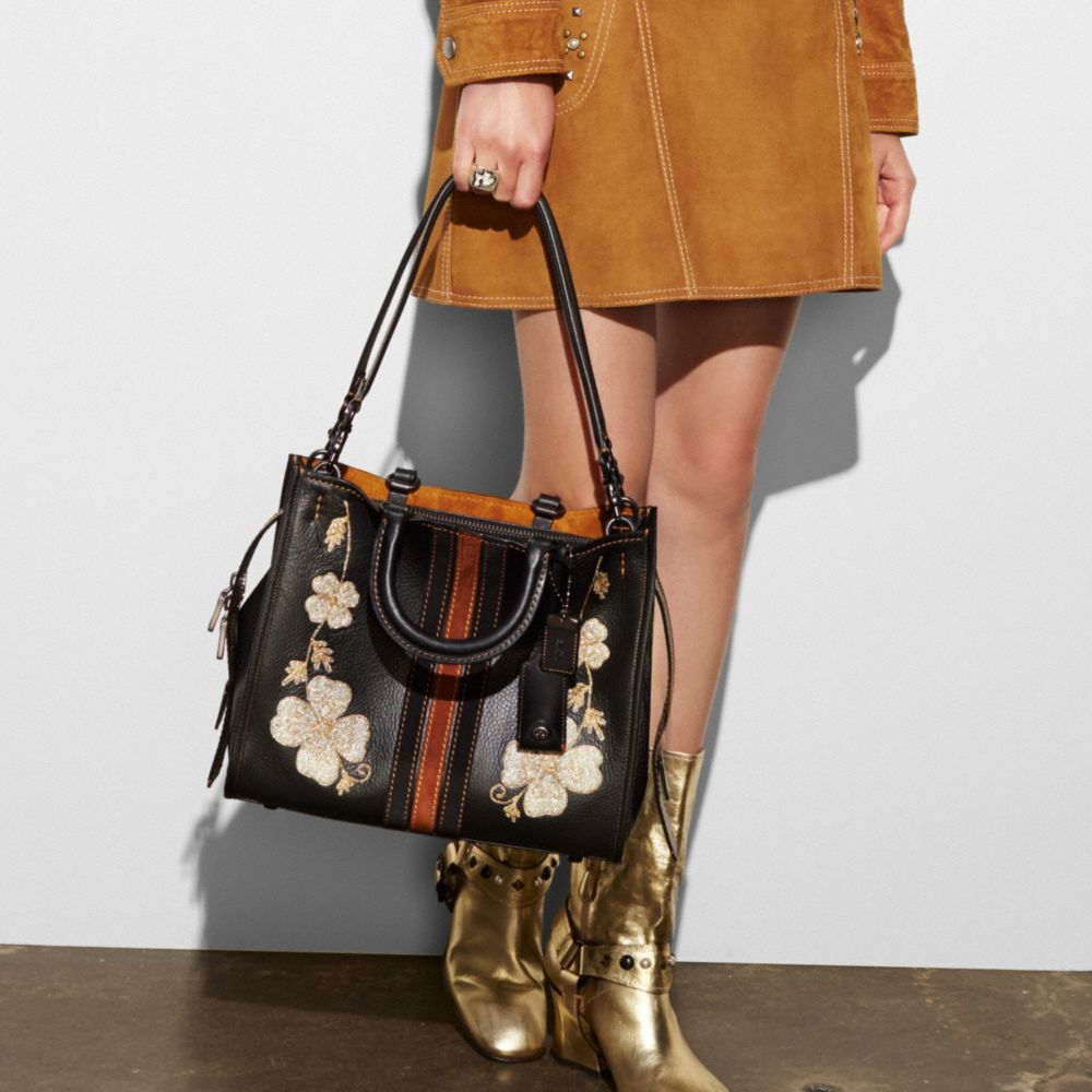 Coach Western Embroidery Rogue Bag in Pebble Leather Alternate View 3