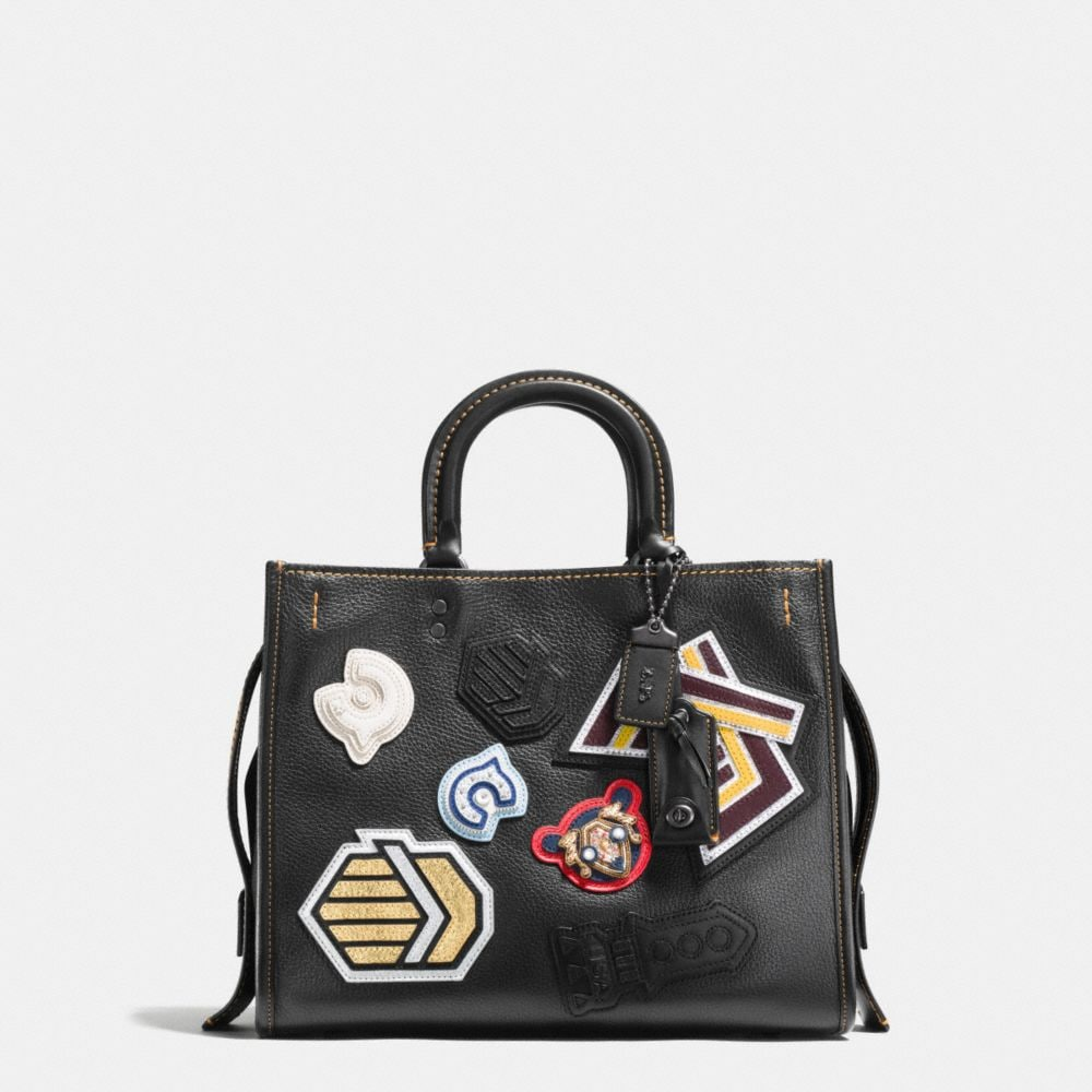 VARSITY PATCH ROGUE BAG IN PEBBLE LEATHER