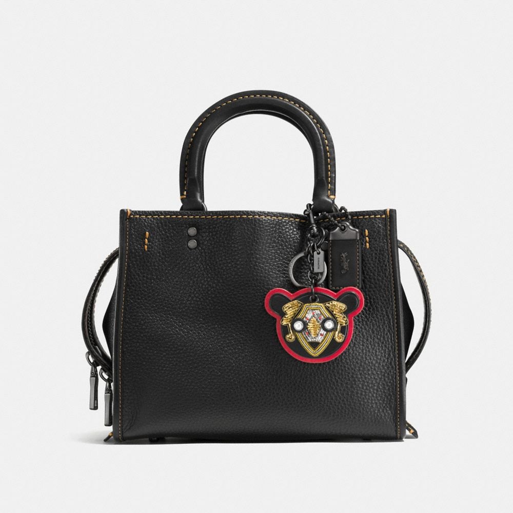 Bullion Bear Patch Bag Charm - Alternate View A1