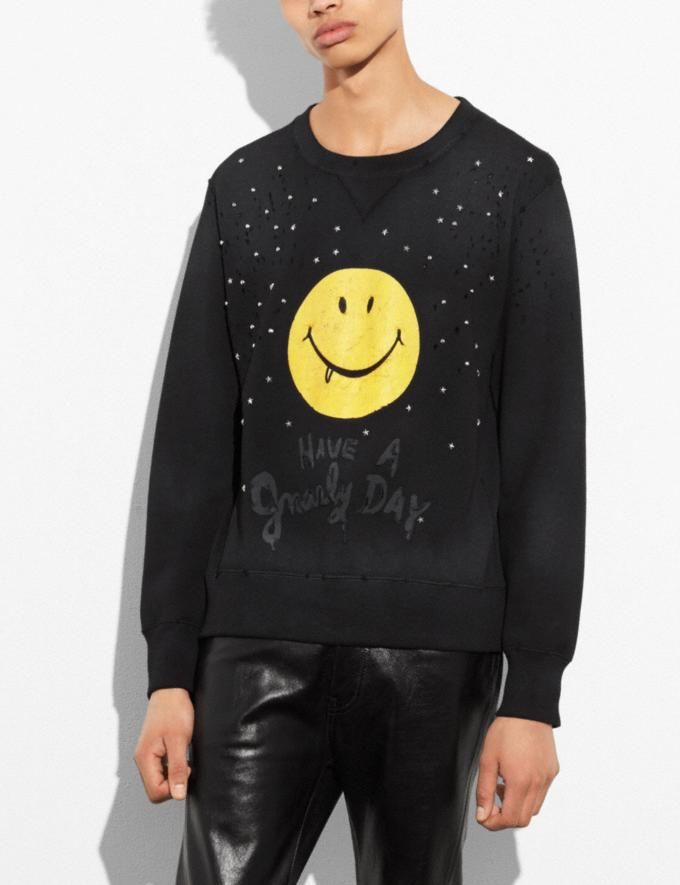 Coach Gnarly Face Sweatshirt Black/Yellow Gnarly Face Runway Shop Men Ready-to-Wear