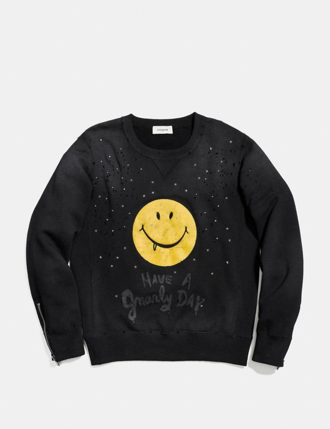 Coach Gnarly Face Sweatshirt Black/Yellow Gnarly Face Runway Shop Men Ready-to-Wear Alternate View 1