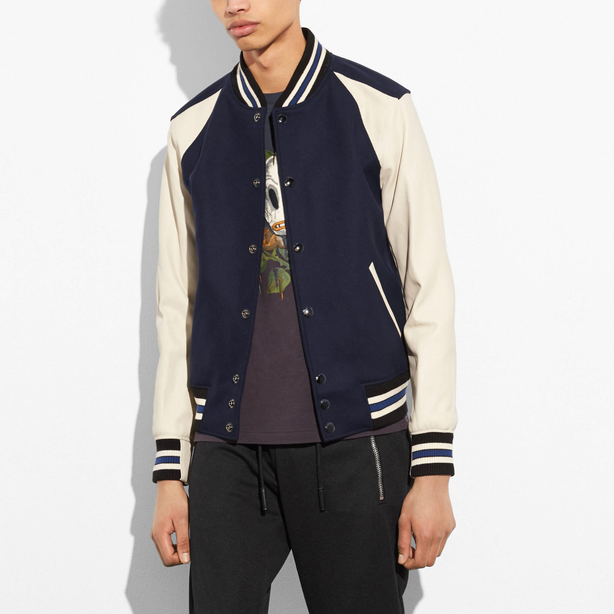 Coach Wool Leather Varsity Jacket