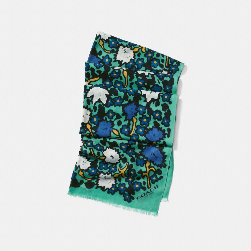YANKEE FLORAL OBLONG SCARF