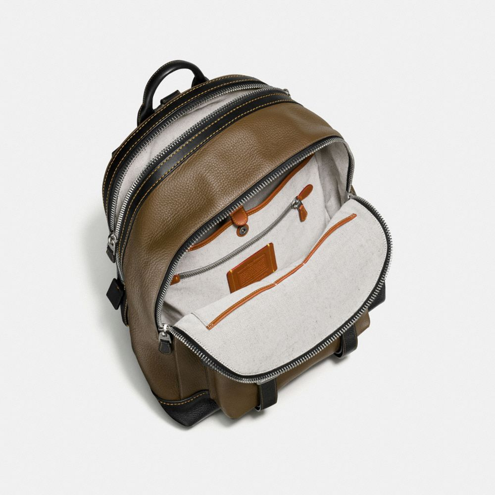 Coach Flag Backpack in Pebble Leather Alternate View 2
