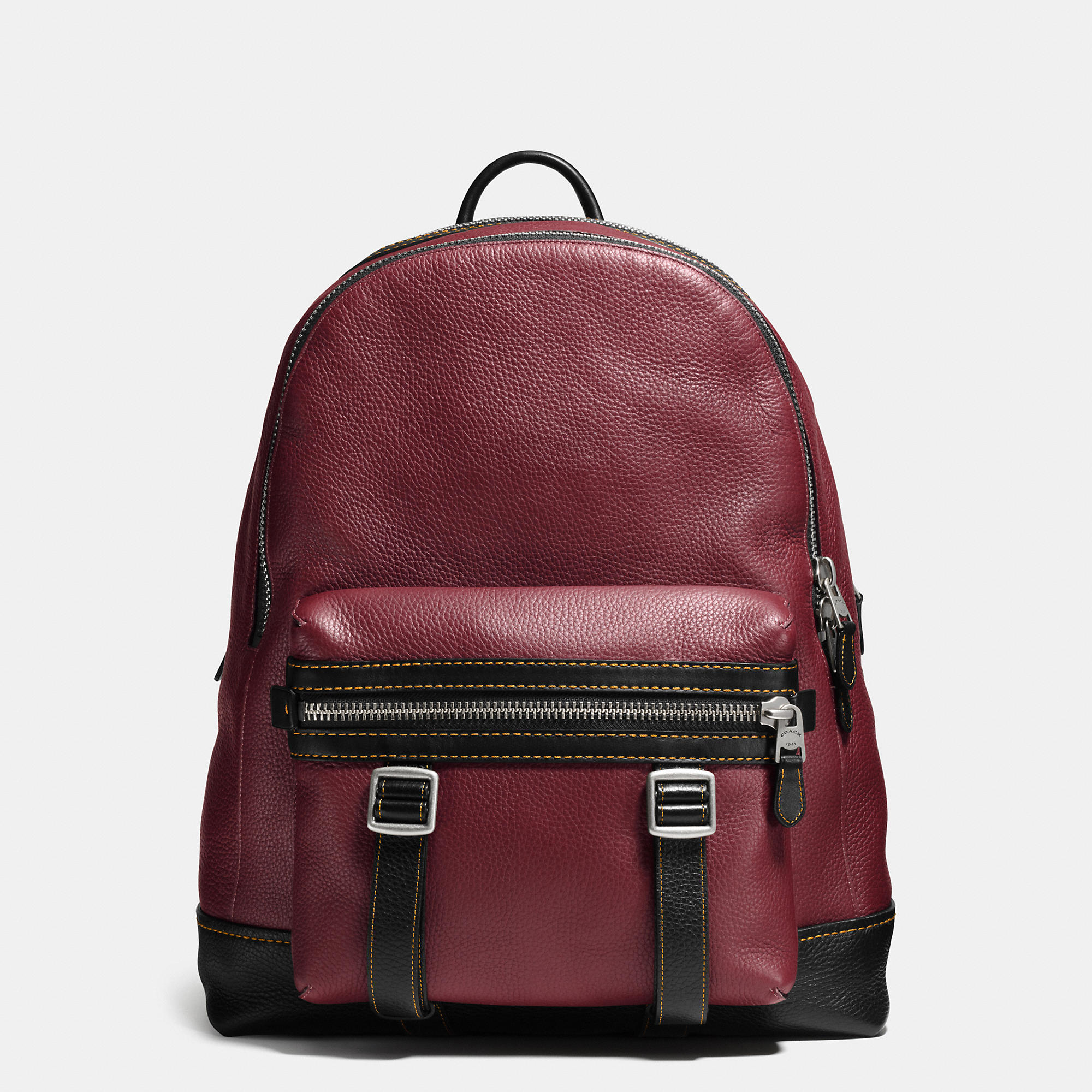 Coach Flag Backpack In Pebble Leather