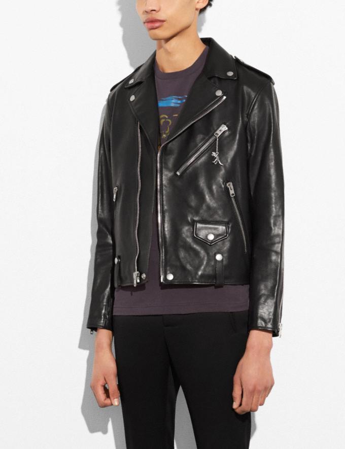 Coach Leather Moto Jacket Black Runway Shop Men Ready-to-Wear