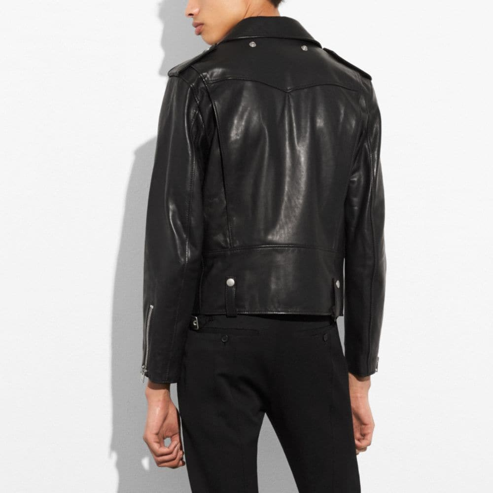 Coach Leather Moto Jacket Alternate View 2