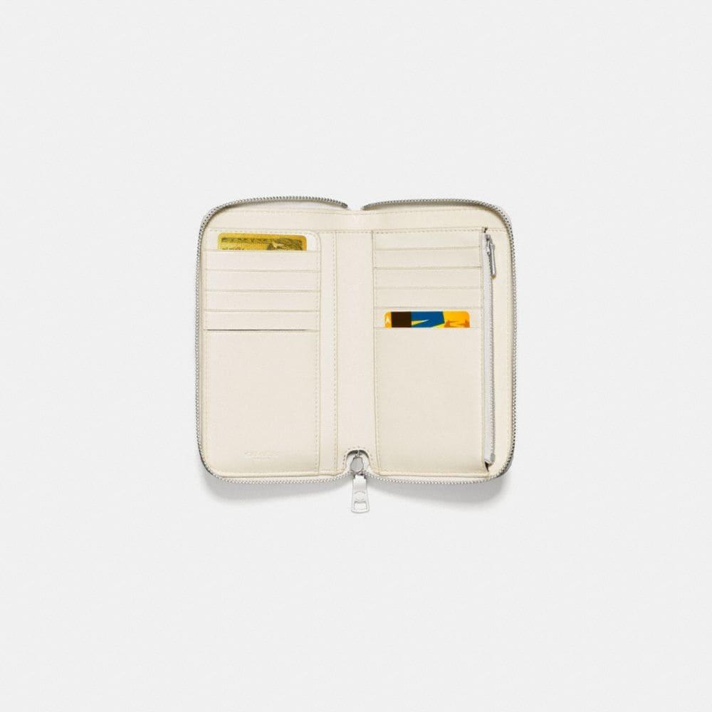 Coach Medium Zip Around Wallet With Ombre Rivets Alternate View 1