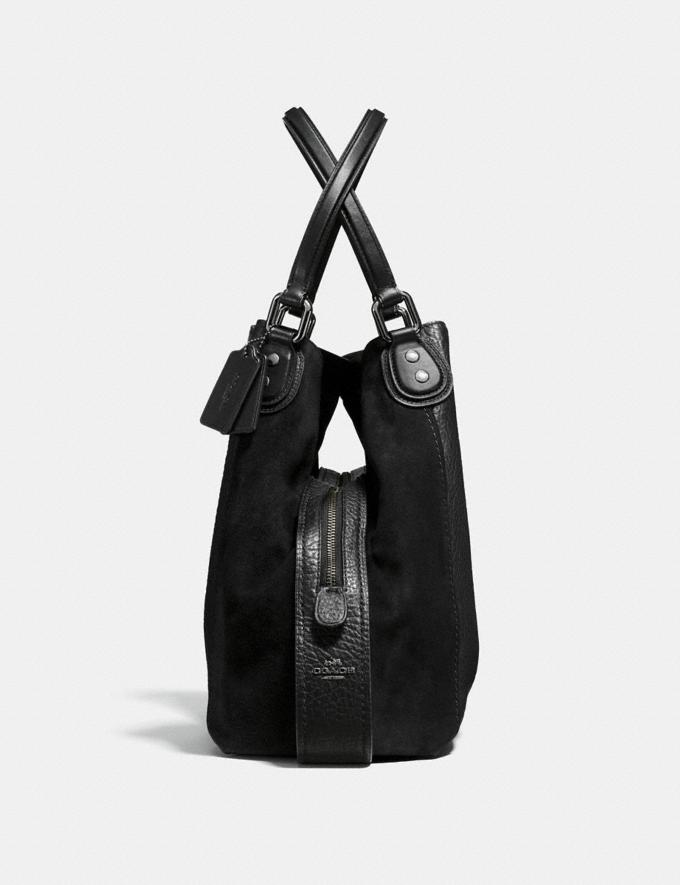 Coach Edie Shoulder Bag 42 Black/Dark Gunmetal Women Bags Shoulder Bags Alternate View 1