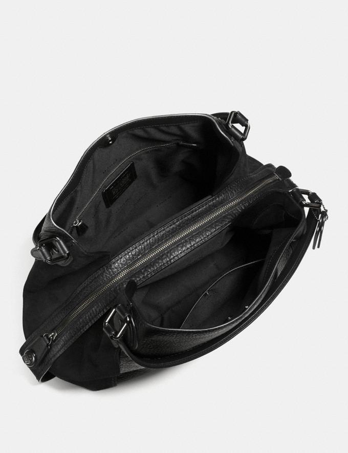 Coach Edie Shoulder Bag 42 Black/Dark Gunmetal Women Bags Shoulder Bags Alternate View 2