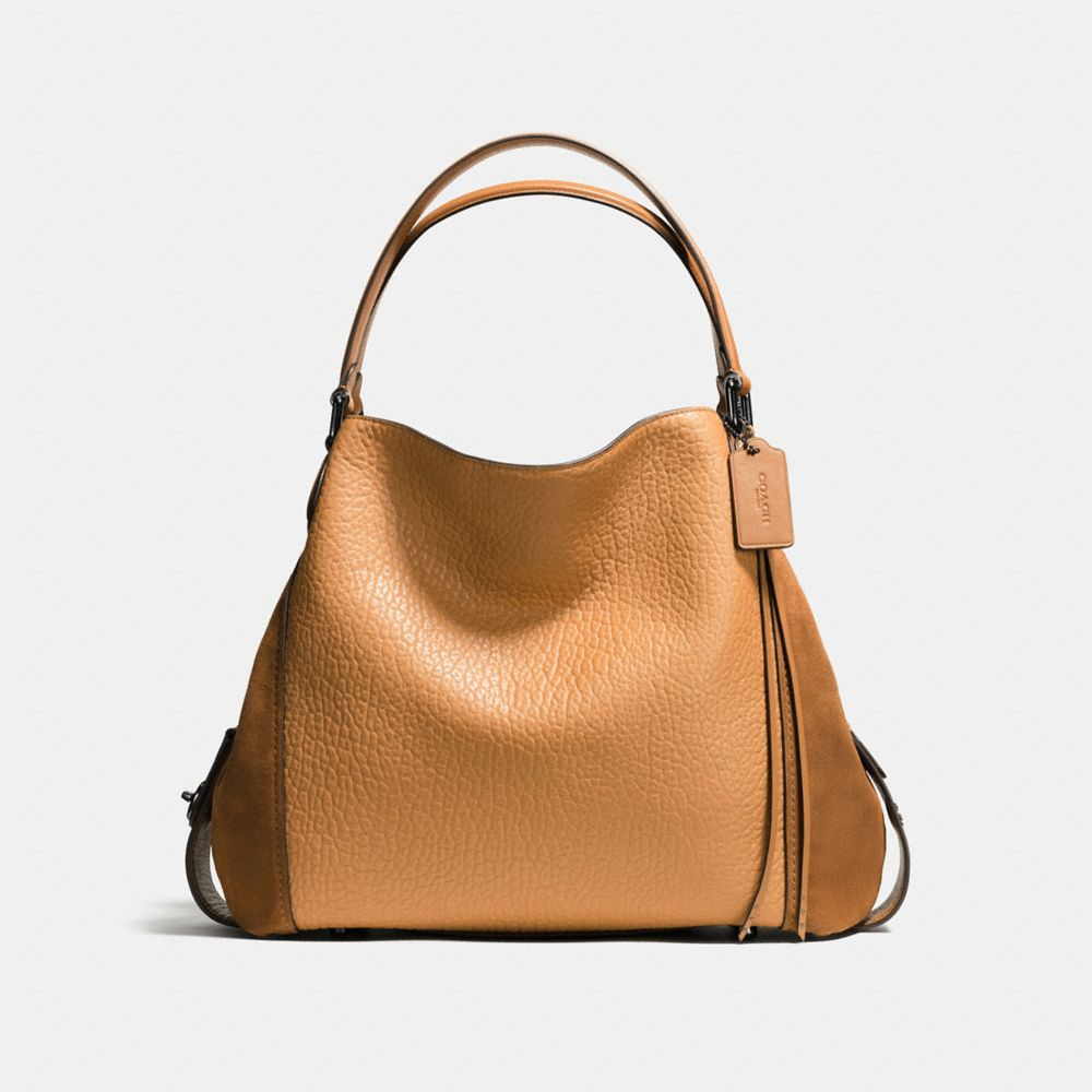 Edie Shoulder Bag 42 in Mixed Leathers