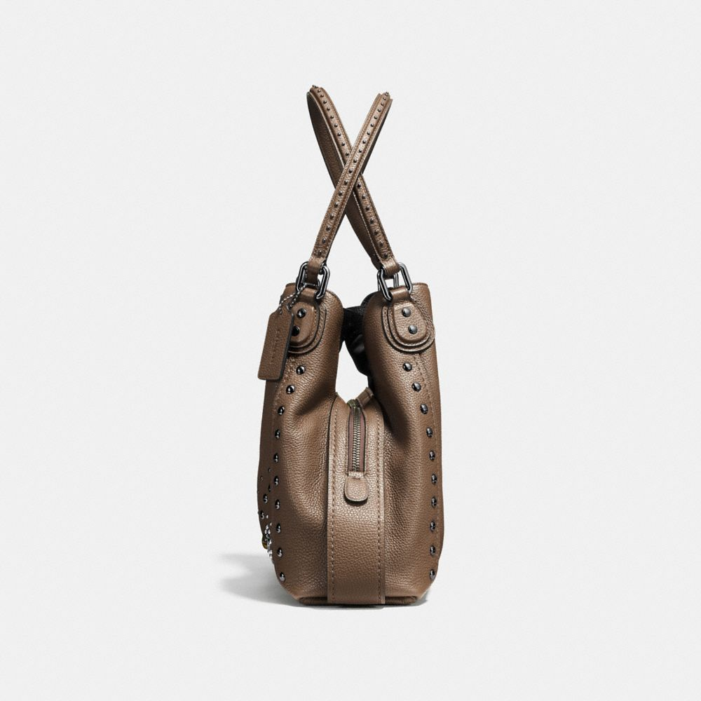 Coach Edie Shoulder Bag 31 in Polished Pebble Leather With Western Rivets Alternate View 1