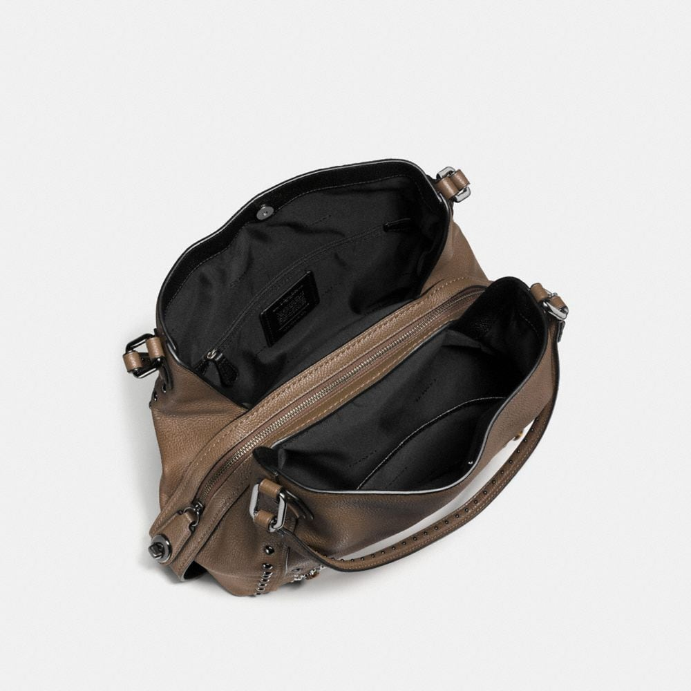 Coach Edie Shoulder Bag 31 in Polished Pebble Leather With Western Rivets Alternate View 2