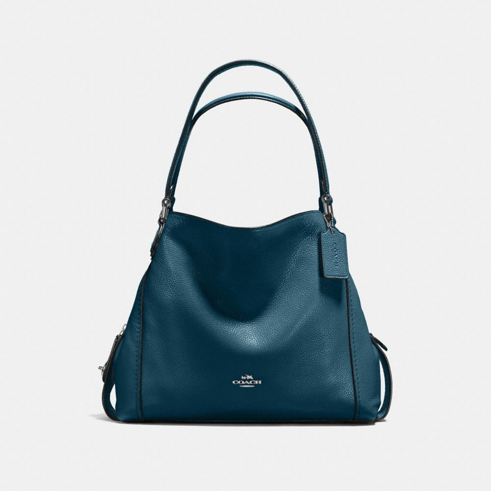 COLORBLOCK EDIE SHOULDER BAG 31 IN MIXED MATERIALS