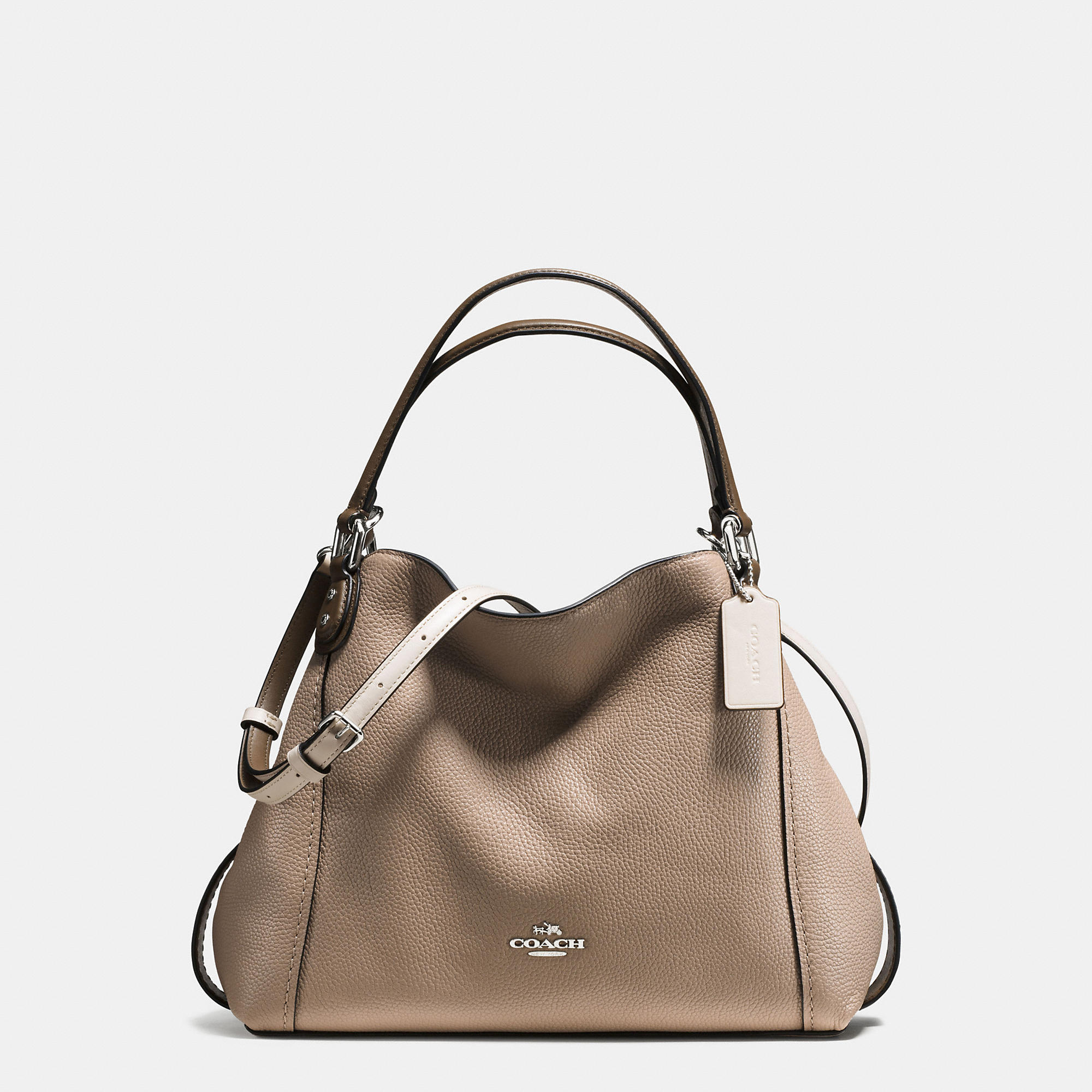 Coach Edie Shoulder Bag 28 In Colorblock Mixed Materials