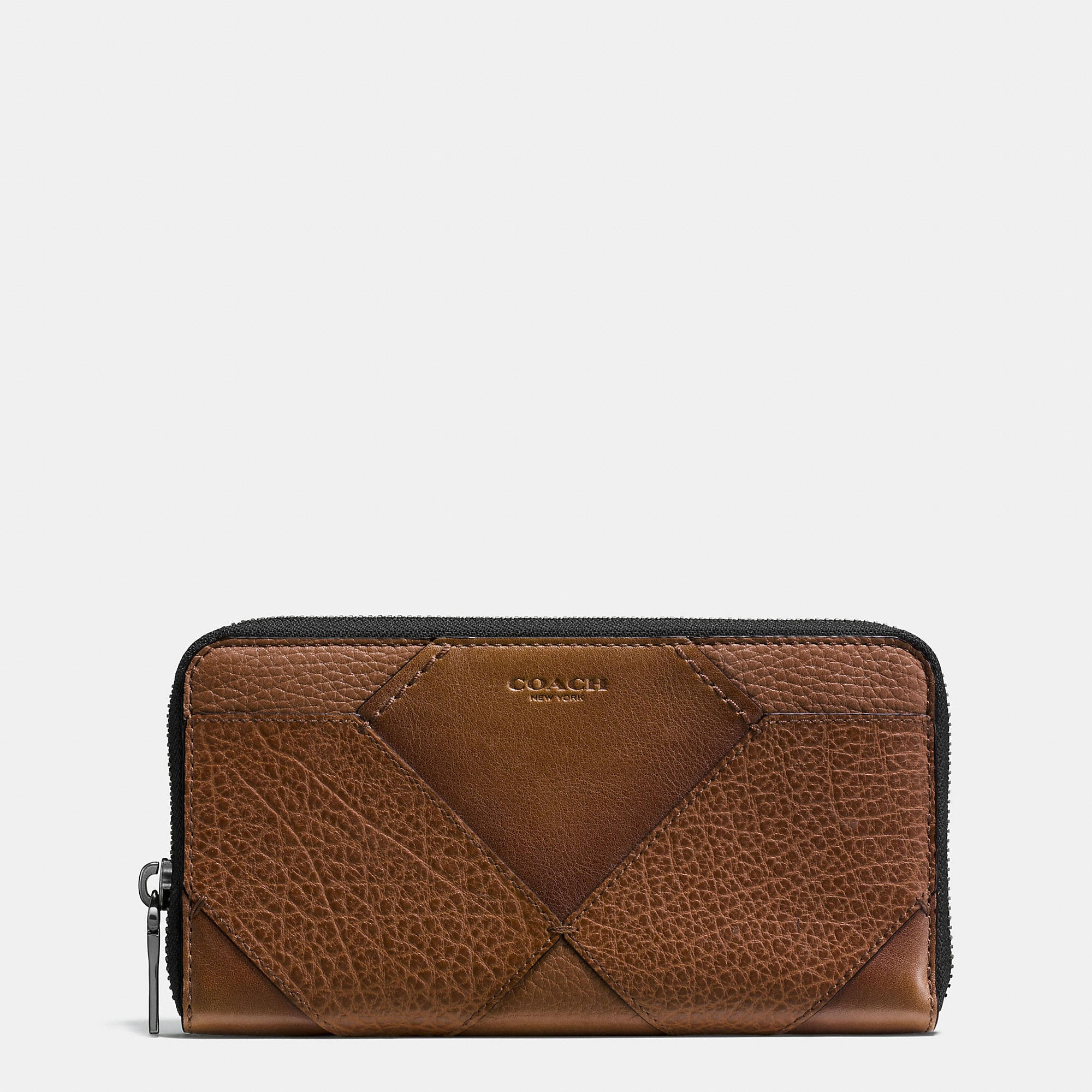 Coach Accordion Wallet In Mixed Canyon Quilt Leather