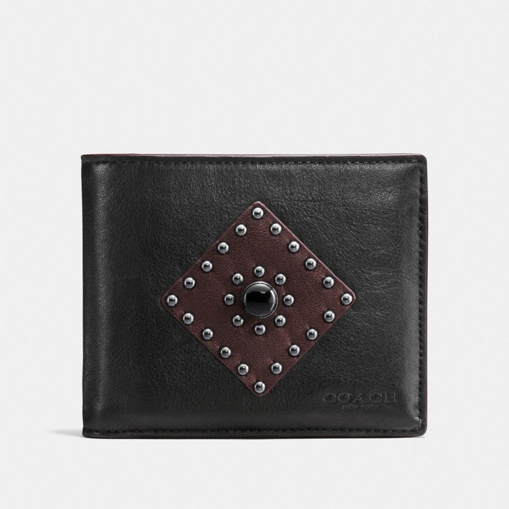 Coach 3-In-1 Wallet in Sport Calf Leather With Western Rivets