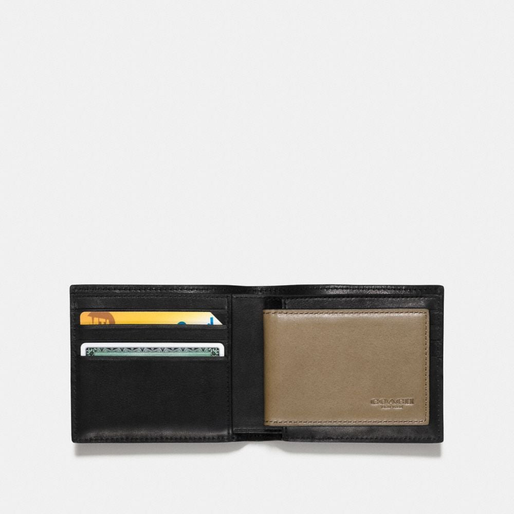 Coach 3-In-1 Wallet in Sport Calf Leather With Western Rivets Alternate View 1