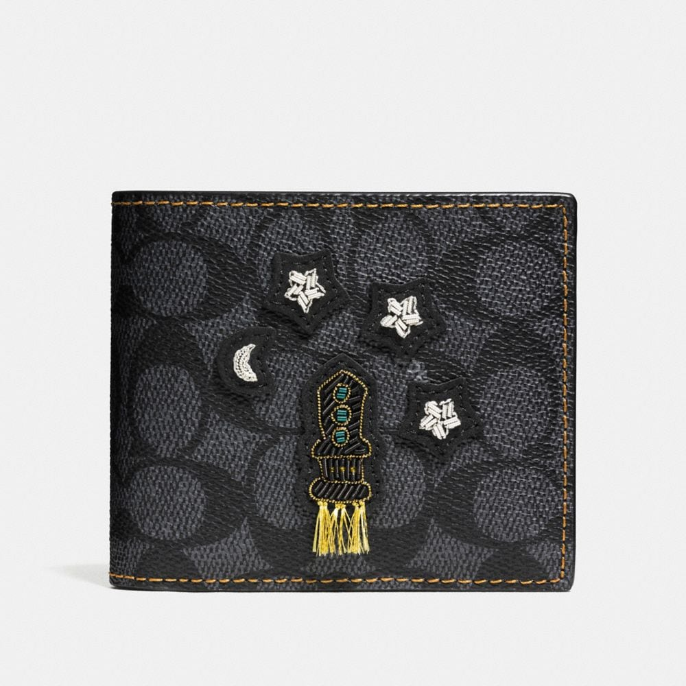 3-In-1 Wallet in Signature Coated Canvas With Embroidery