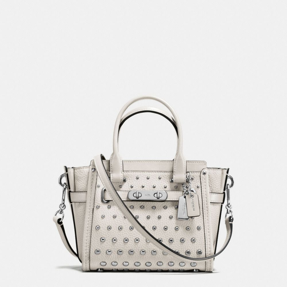 COACH SWAGGER 21 IN PEBBLE LEATHER WITH OMBRE RIVETS