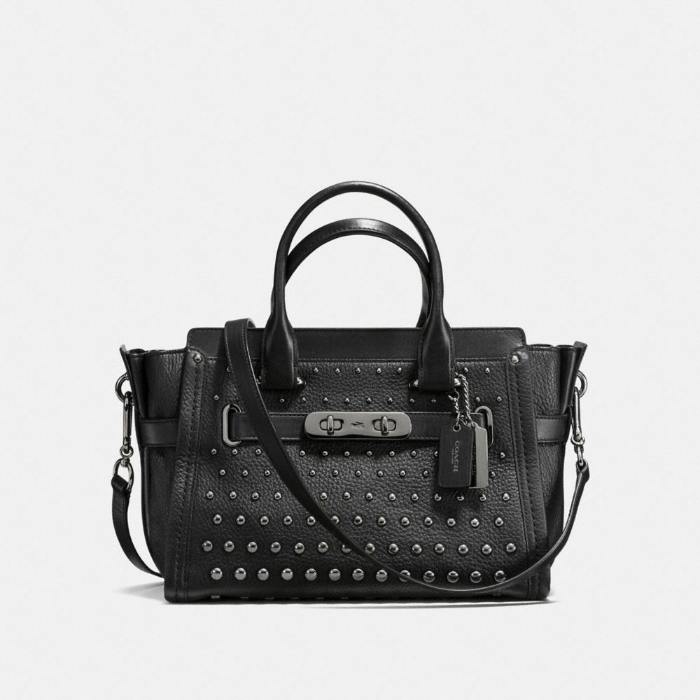 COACH SWAGGER 27 IN PEBBLE LEATHER WITH OMBRE RIVETS