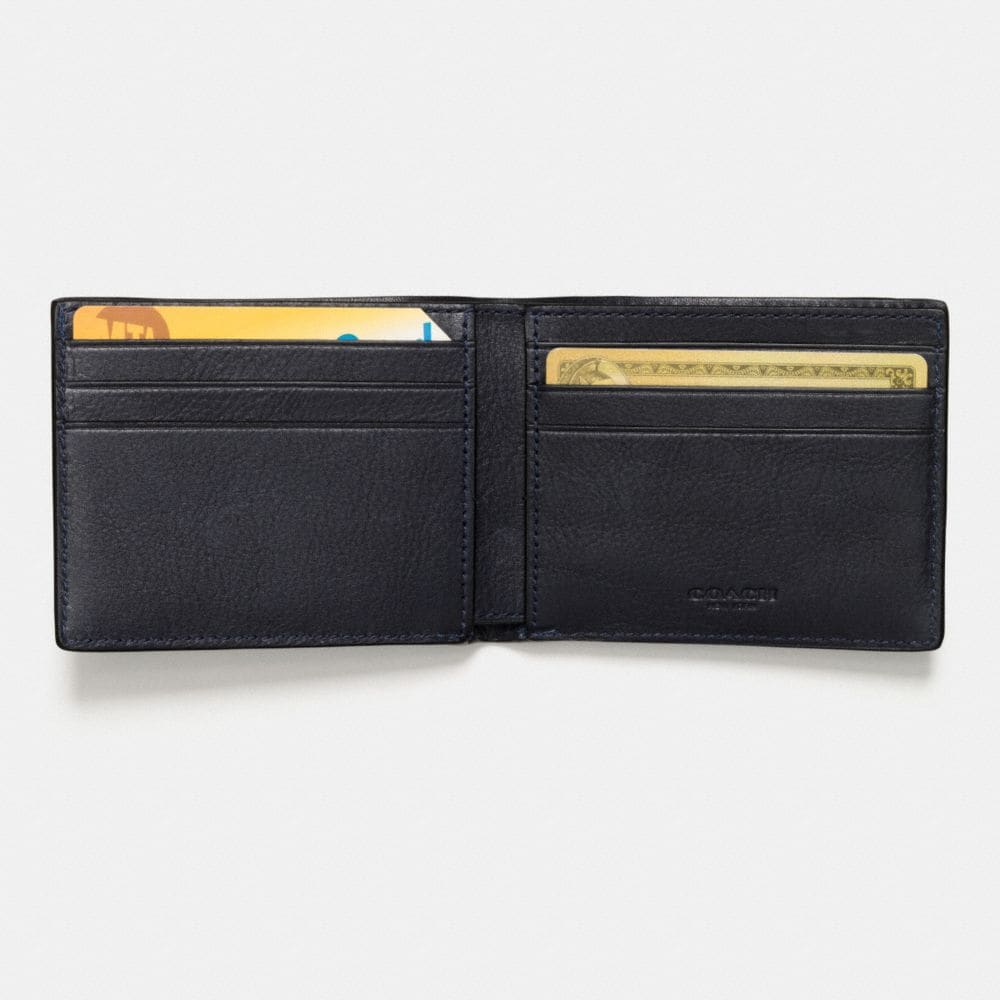 Coach Slim Billfold Wallet in Canyon Quilt Leather Alternate View 1
