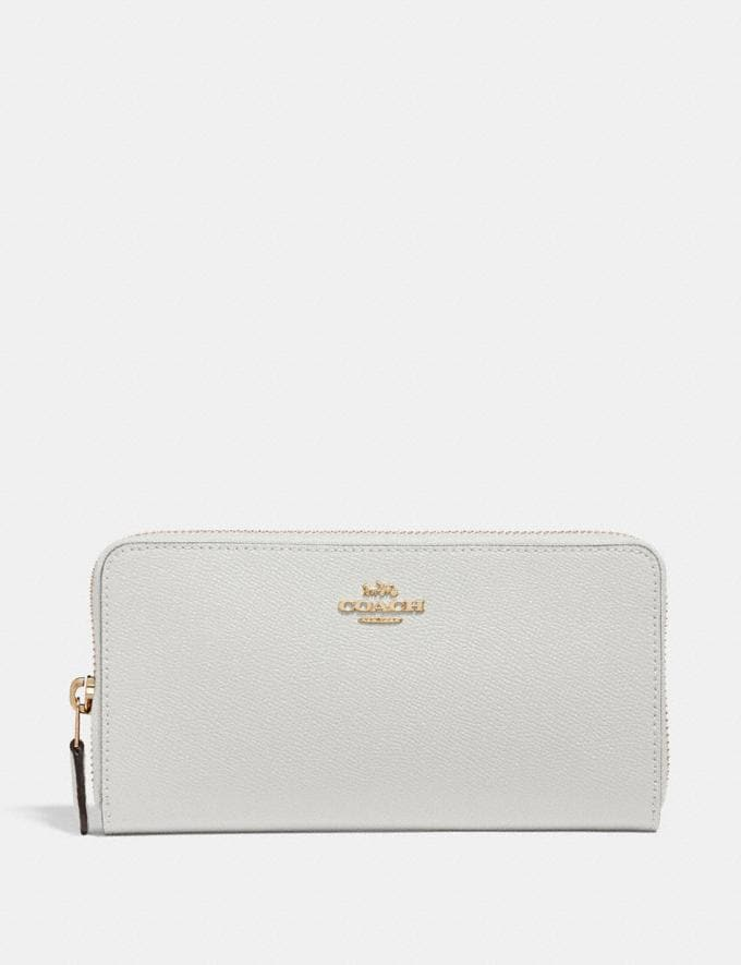 Coach Accordion Zip Wallet Chalk/Gold SALE Women's Sale Wallets & Wristlets