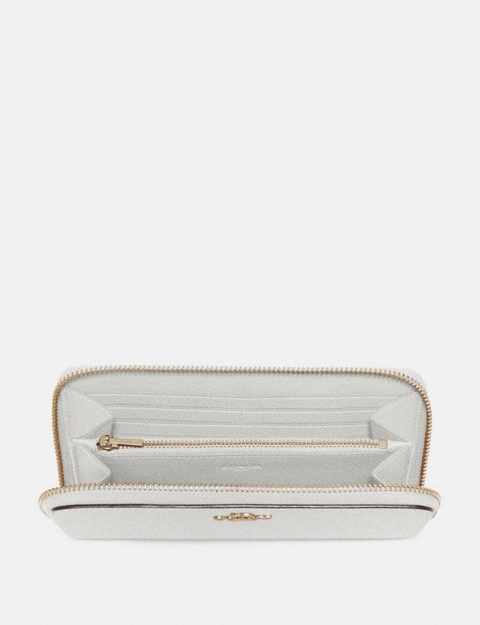 Coach Accordion Zip Wallet Chalk/Gold SALE Women's Sale Wallets & Wristlets Alternate View 1