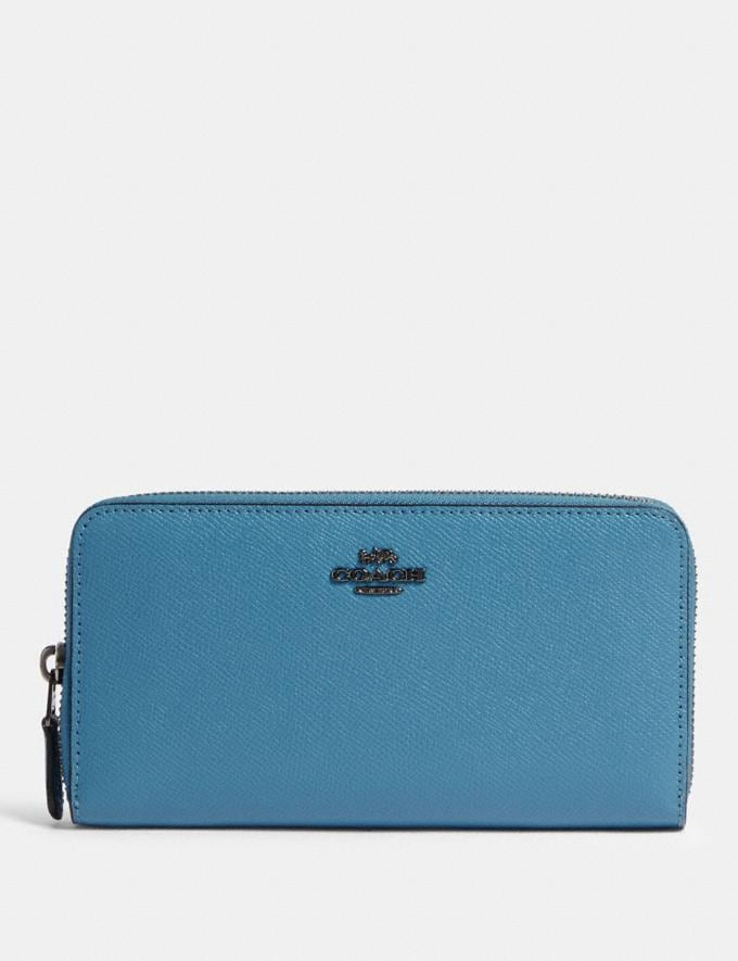 Coach Accordion Zip Wallet Gm/Blue SALEDDD Women's Sale New to Sale New to Sale