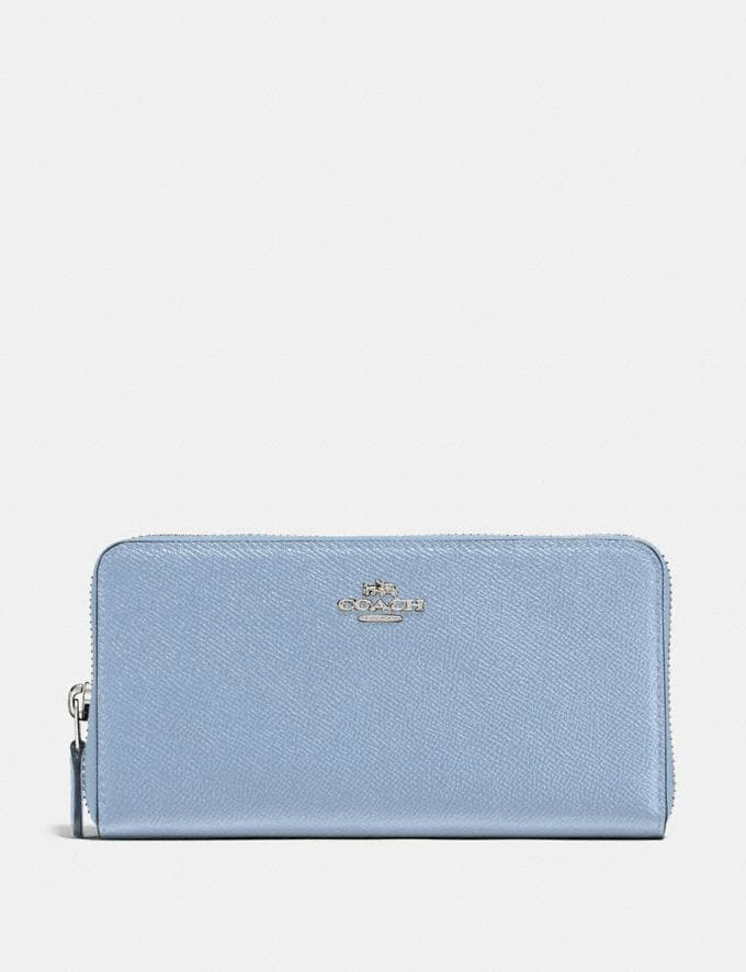 Coach Accordion Zip Wallet Silver/Mist New Women's New Arrivals Wallets & Wristlets