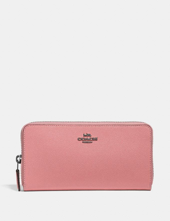 Coach Accordion Zip Wallet Pewter/Vintage Pink Gift For Her Under €250