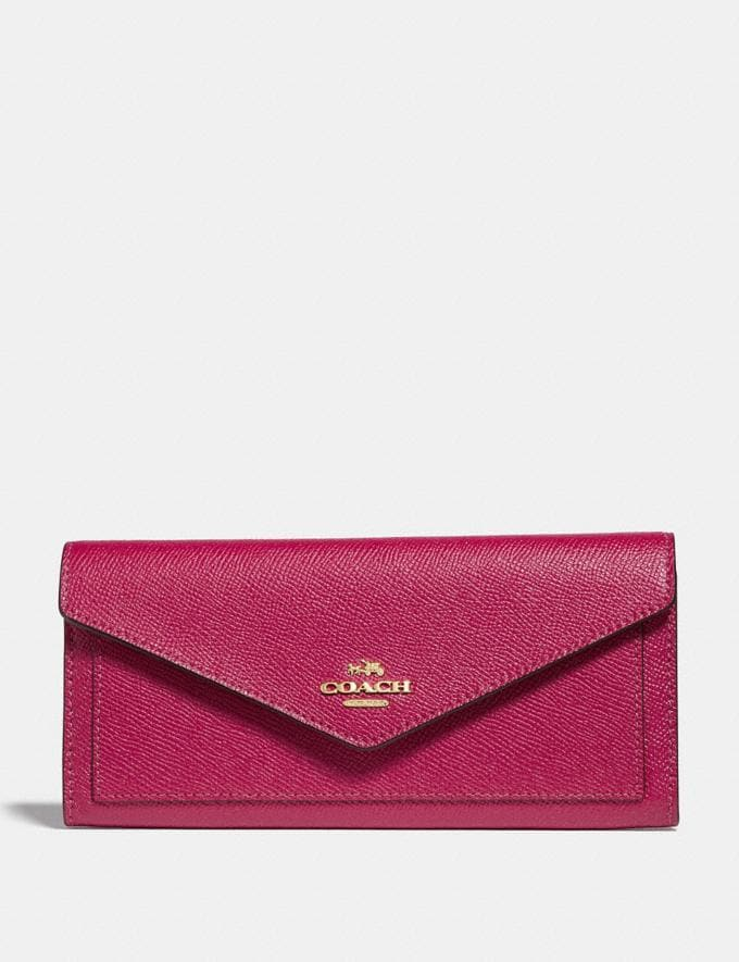 Coach Soft Wallet Bright Cherry/Gold Cyber Monday Women's Cyber Monday Sale Wallets & Wristlets