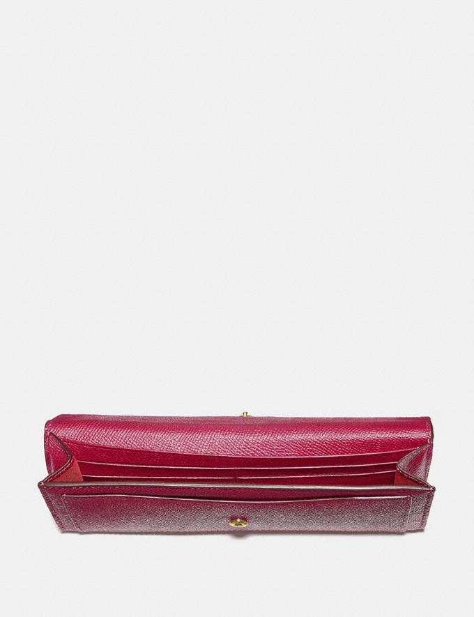 Coach Soft Wallet Bright Cherry/Gold Cyber Monday Women's Cyber Monday Sale Wallets & Wristlets Alternate View 1