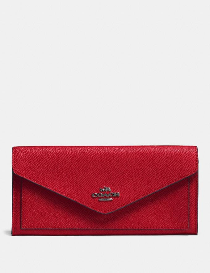 Coach Soft Wallet Red Cyber Monday Women's Cyber Monday Sale Wallets & Wristlets