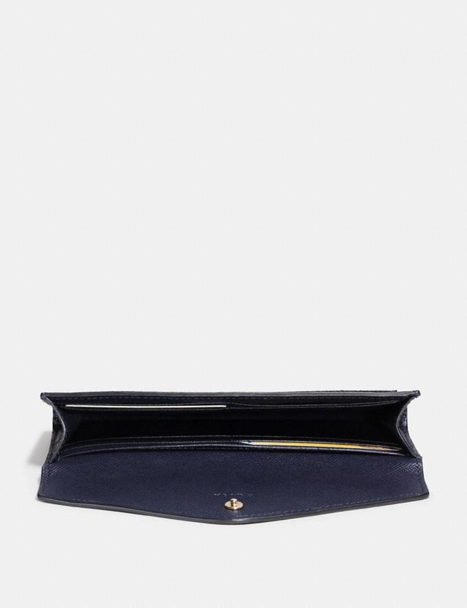 Coach Soft Wallet Navy/Light Gold New Women's New Arrivals Wallets & Wristlets Alternate View 1