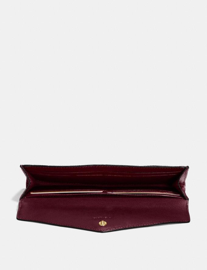 Coach Soft Wallet Oxblood/Light Gold New Women's New Arrivals Wallets & Wristlets Alternate View 1