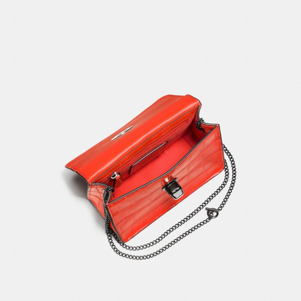 Bowery Crossbody in Croc Embossed Leather - Alternate View A2