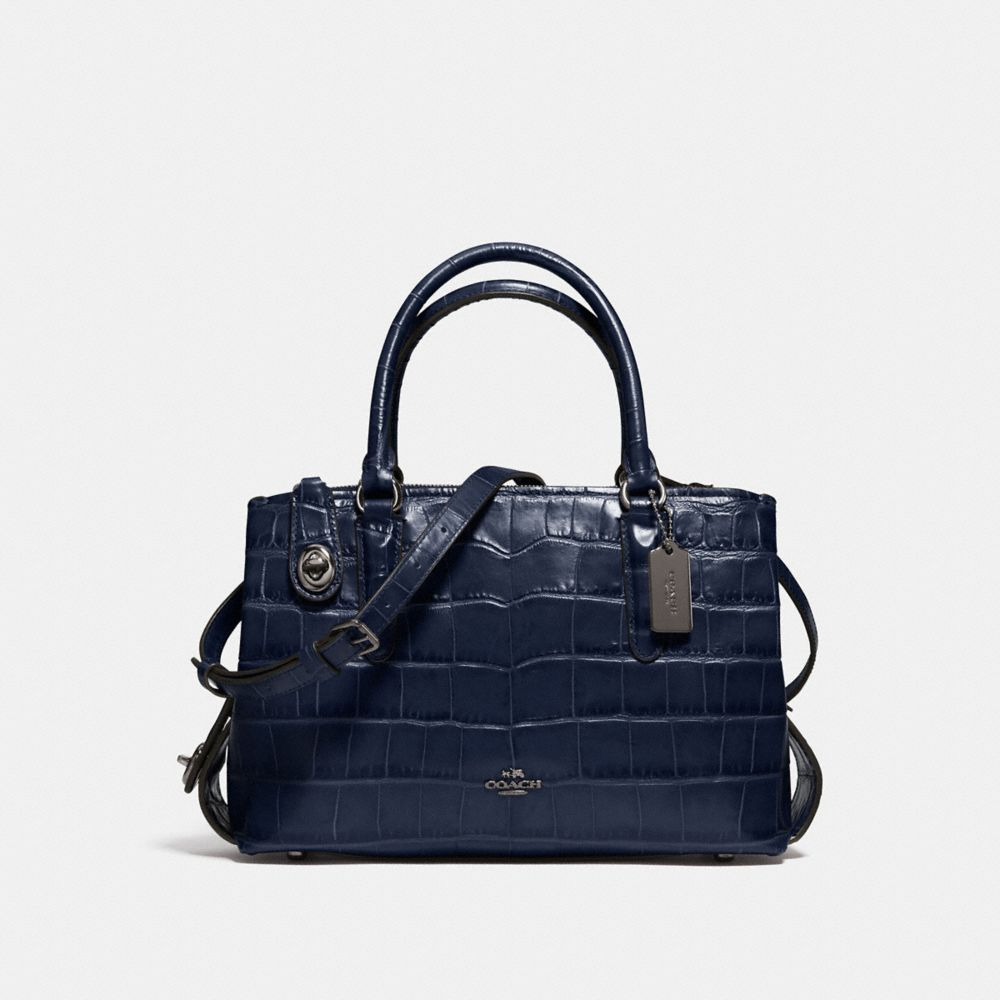 Coach Brooklyn Carryall 28 in Croc Embossed Leather