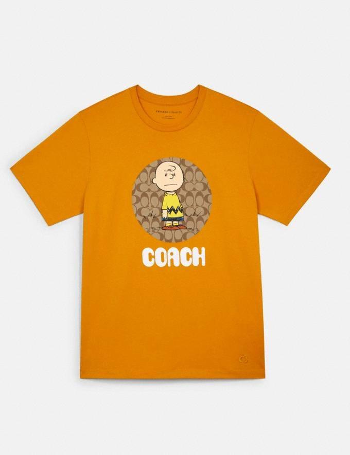 Coach Coach X Peanuts Charlie Brown Signature T-Shirt Sunflower DEFAULT_CATEGORY
