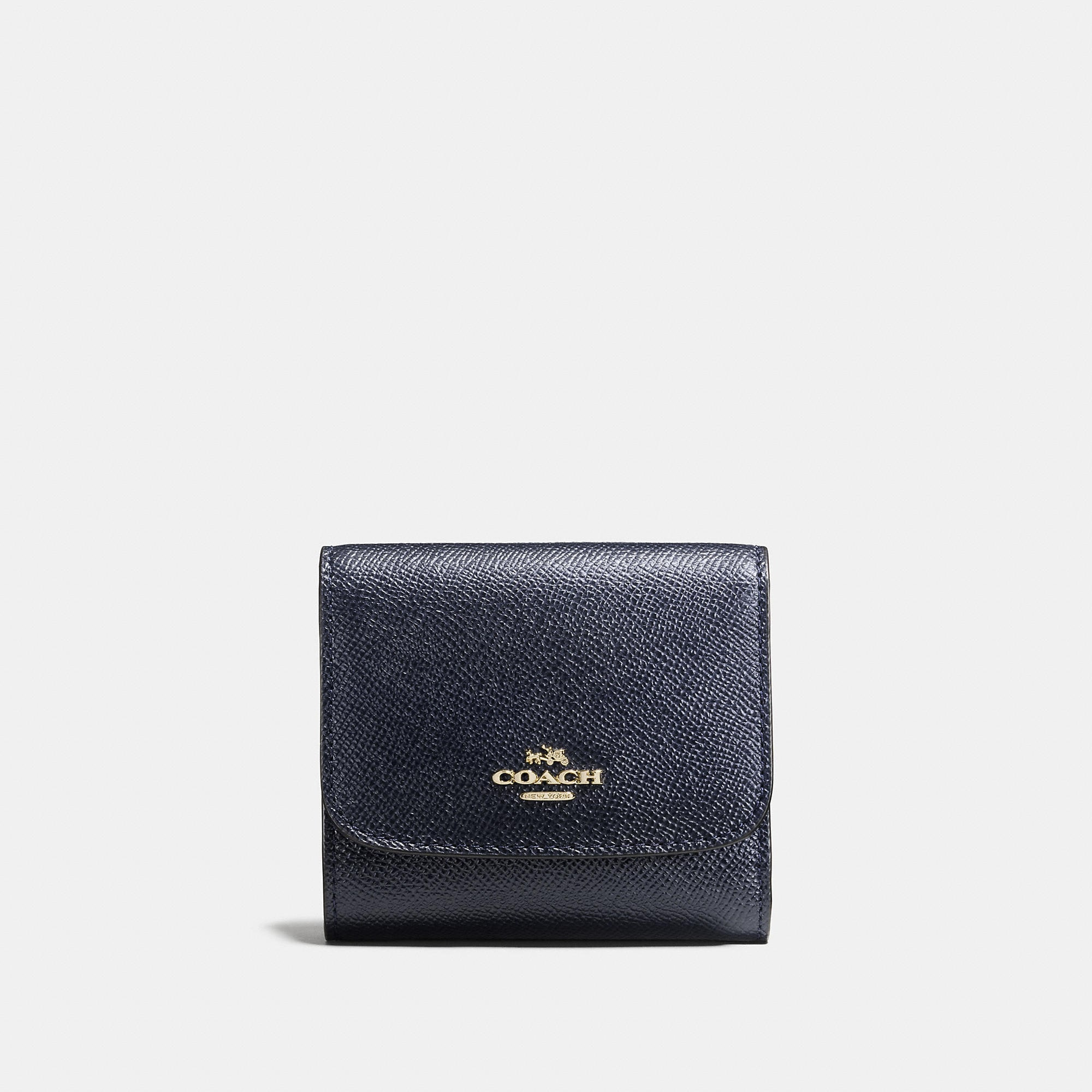Coach Small Wallet In Crossgrain Leather