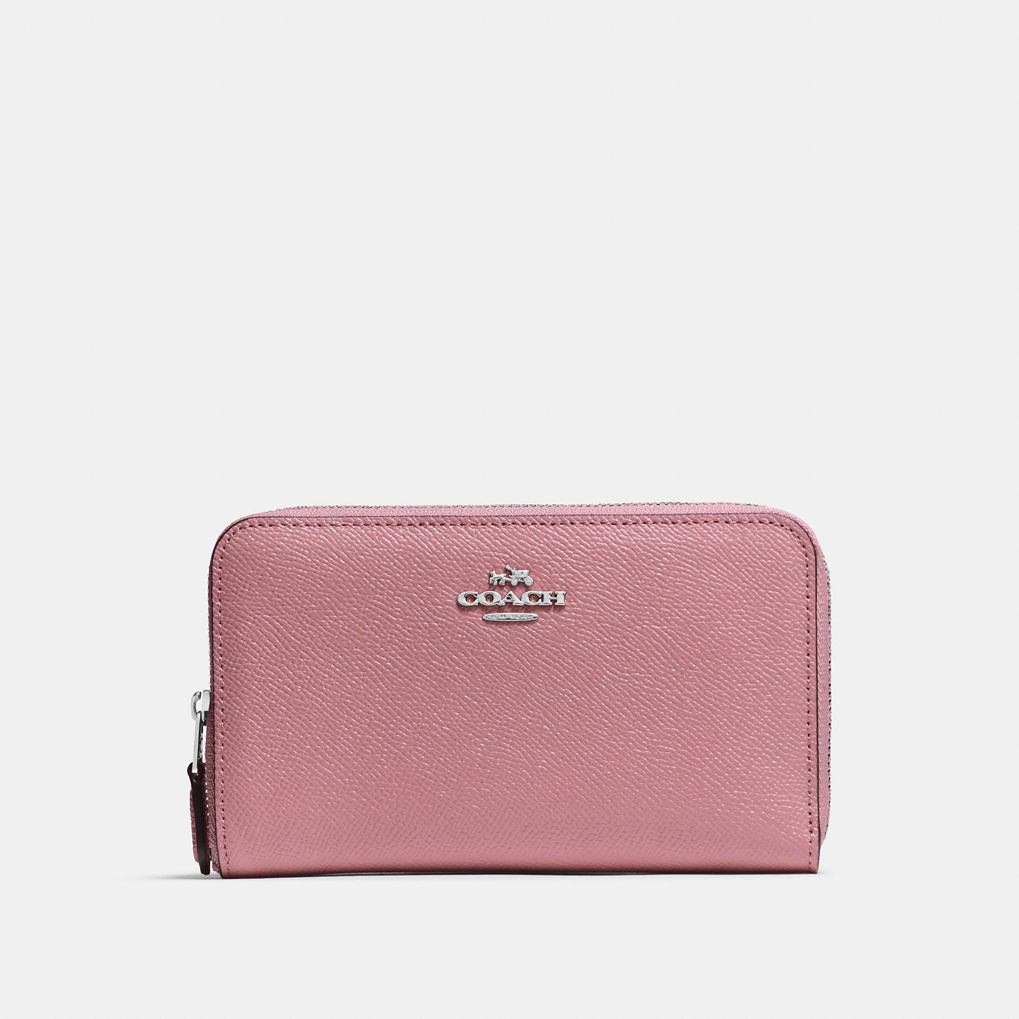 Coach Medium Zip Around Wallet In Crossgrain Leather