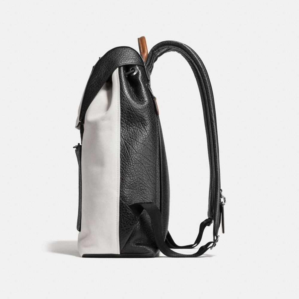 Coach Manhattan Backpack in Mixed Leathers Alternate View 1