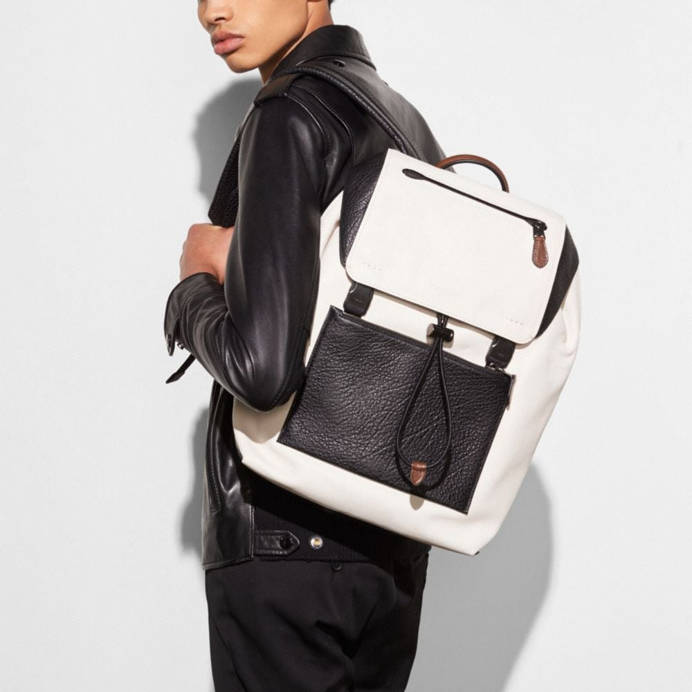 Coach Manhattan Backpack in Mixed Leathers Alternate View 3