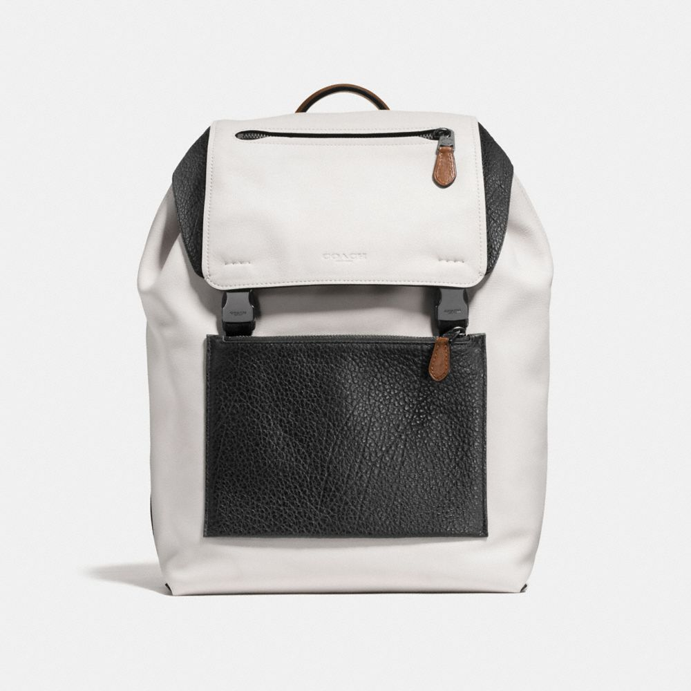 MANHATTAN BACKPACK IN MIXED LEATHER