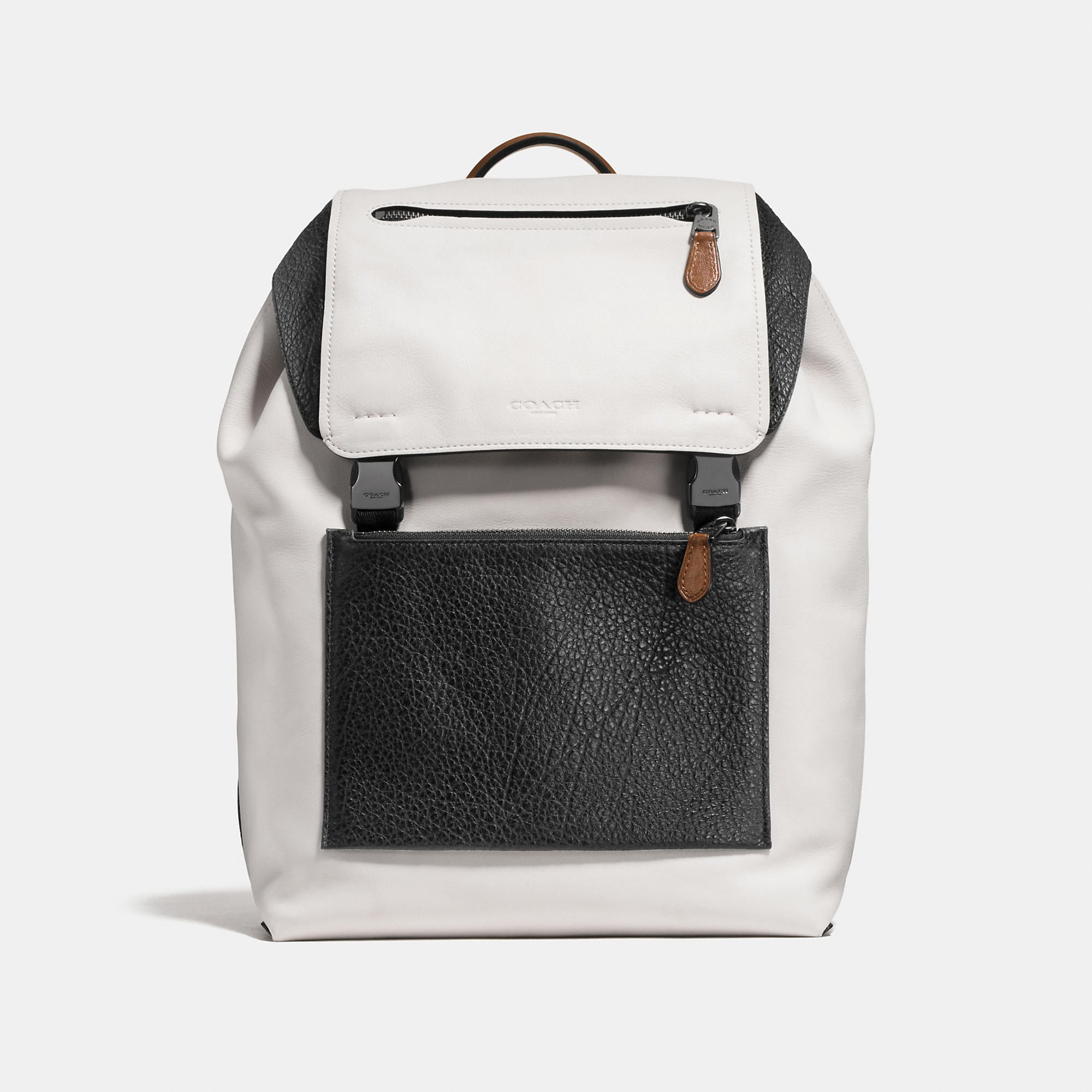 Coach Manhattan Backpack In Mixed Leather
